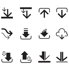 Upload button loading symbol circles and arrow but vector