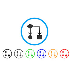 algorithm scheme rounded icon vector image vector image