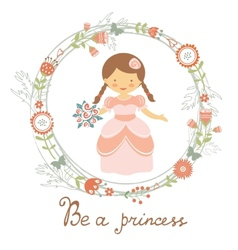 Be a princess cute card vector image