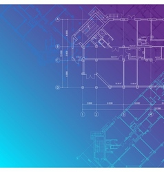 blue architectural background vector image vector image