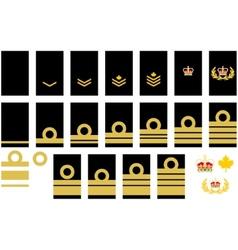 Canadian Navy insignia vector image vector image