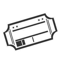 cinema ticket isolated icon vector image