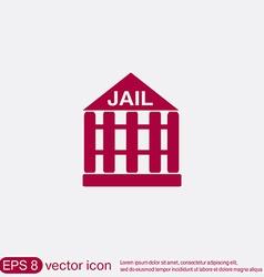 jail prison icon symbol of justice police icon vector image