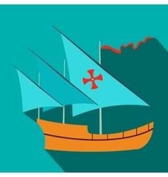 Santa Maria sailing ship icon flat style vector image vector image