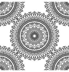 Seamless pattern Mandala with decorative ornament vector image