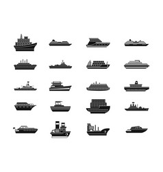 ship icon set simple style vector image