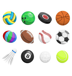 sport balls isolated on white background vector image