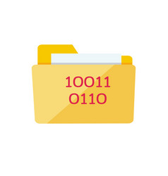 yellow web folder sign with it data interface vector image