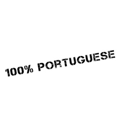 100 percent portuguese rubber stamp vector