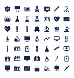 49 analysis icons vector