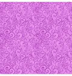 Abstract curly shapes seamless pattern vector image vector image