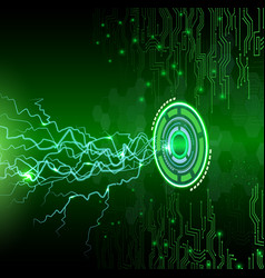 abstract technology on green background vector image vector image