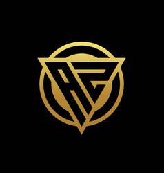 az logo monogram with triangle shape and circle vector image