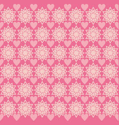 background love star ornament pattern pink vector image