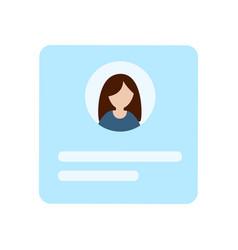 Badge employees identification blue blank plastic vector