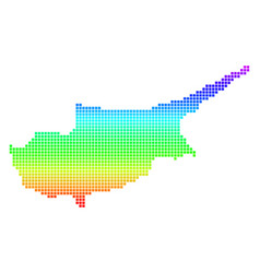 bright pixel cyprus map vector image