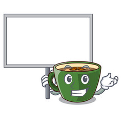 Bring board indian masala tea in cartoon glas vector