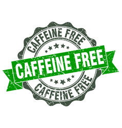 caffeine free stamp sign seal vector image