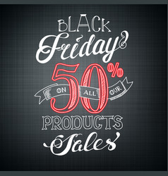 Calligraphic black friday advertising template vector