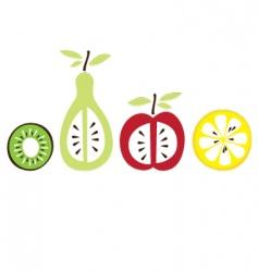 cartoon fruit vector image