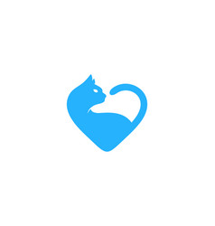 cat love logo icon design vector image