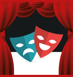 Cinema theatrical mask entertainment icon vector