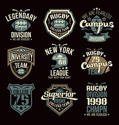 College rugteam emblems vector