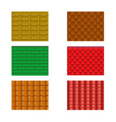 color roof tiles set vector image