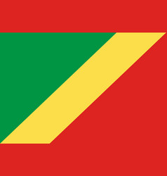 colored flag of the congo vector image vector image