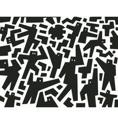 Demonstration people - abstract background vector