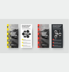 dl flyer template with color geometric design vector image