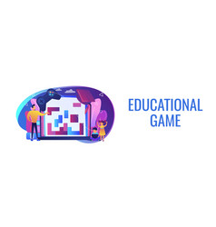 Educational game concept banner header vector