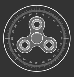 Fidget spinner toy icon vector