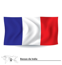 Flag of Bassas da India vector