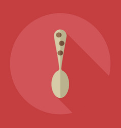 Flat modern design with shadow icons dinnerware vector