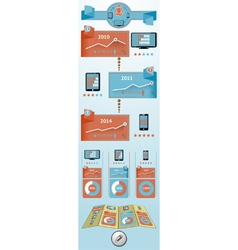 Flat objects infographic vector image