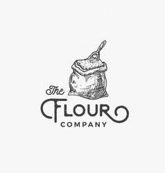 flour company abstract sign symbol or logo vector image