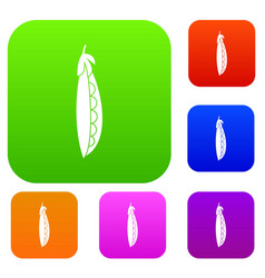 Fresh peas set collection vector