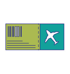full color airplane ticket travel to vacation vector image