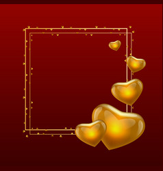 gold valentine day calligraphy text with golden vector image