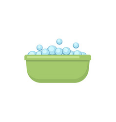 green basin with bubles in flat style vector image