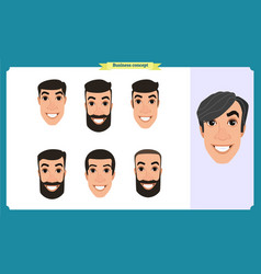 group people business men avatar vector image
