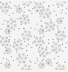 hand drawn winter seamless patterns doodle vector image