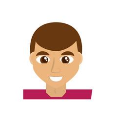 Happy man face cartoon vector