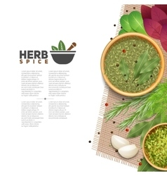 Herbs Spices Food Seasoning Information POster vector