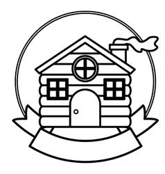 House of Christmas season design vector image