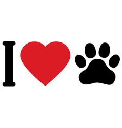 i love animals dogs i love my pet symbolic vector image