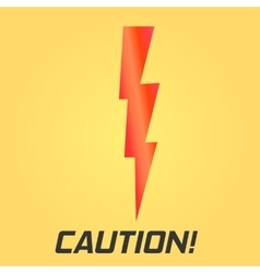 Lightning symbol With text Single on yellow vector image