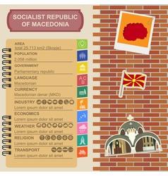 Macedonia infographics statistical data sights vector image