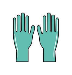 Medical latex gloves to protection hands vector